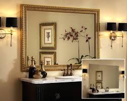 How To Frame Bathroom Mirror Gold Frame Bathroom Mirror Juracka Info