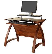 stylish computer desk curved stylish computer desk with sliding keyboard shelf raised