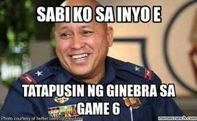 Game 6 Memes - ginebra s chionship run has naturally spawned the most creative