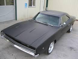 1970 dodge challenger matte black flat black 68
