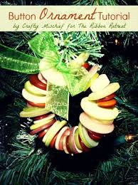 button wreath ornament tutorial the ribbon retreat