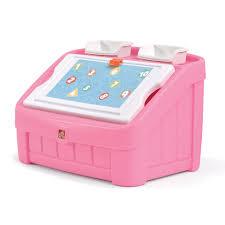 Kitchen Set Toys Box Step2 Pink 2 In 1 Toy Box U0026 Art Lid Toys
