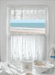 coastal lace seahorse curtains seahorse starfish and seashells