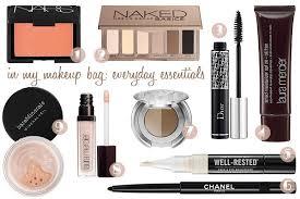 makeup bag everyday essentials