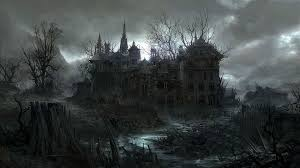 halloween castle background spooky wallpapers group 81
