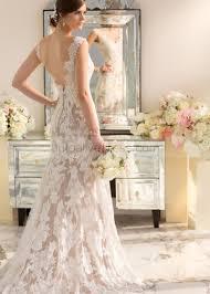 ivory wedding dress lace v back with chagne lining wedding dress