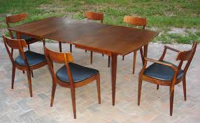 mid century walnut dining table century dining room tables with goodly mid modern throughout chairs