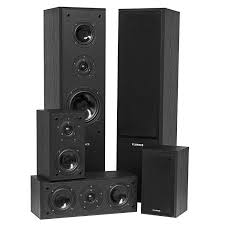 8 ohm home theater speakers avhtb surround sound home theater 5 speaker system fluance