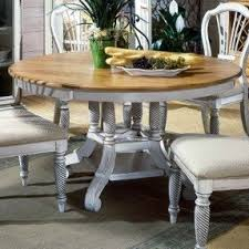 Round Dining Table With Leaf Extension Foter - Pier one dining room table