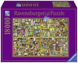 ravensburger colin thompson bookshelf jigsaw puzzle 18000 piece