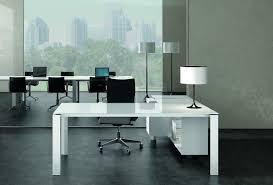Glass Top L Shaped Computer Desk Executive Office Desk Glass Top Desk Design Antique White L