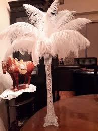 Ostrich Feather Centerpieces Wholesale by Elegant Ostrich Feather Centerpiece Includes 1 Ea 16 Clear Eiffel