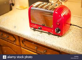 Duralit Toaster A Beautiful Candy Apple Red Dualit Toaster On The Kitchen Counter