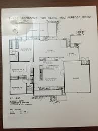 eichler homes floor plan sv 1463 original at ucla library special