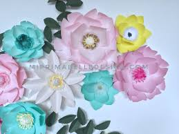 paper flowers for home baby nursery room wall decor