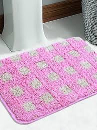 Pink Bathroom Rugs by Bath Rugs Buy Bathroom Mats Online In India Myntra