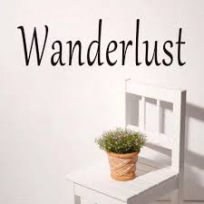 wanderlust letters wall stickers diy removable vinyl self adhesive