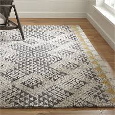 Area Wool Rugs Thea Hooked Wool Rug Crate And Barrel
