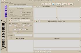 logiciel de recette de cuisine qrecipewriter écrivez simplement et proprement vos recettes pour