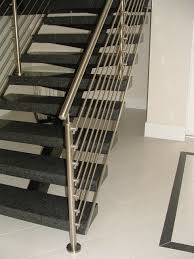 Modern Banister Rails Interior Surprising Half Turn Modern Staircase Including