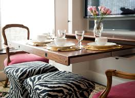 Studded Dining Table Design Ideas - Pull out dining room table