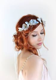headdress for wedding silver crown wedding headpiece grey floral crown hair