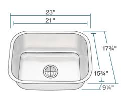 Sink Size Kitchen 2318 Single Bowl Stainless Steel Kitchen Sink