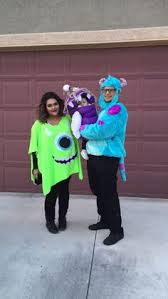 Monsters Halloween Costumes Adults Family U0027s Halloween Costumes Mike Wazowski Sully Boo