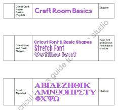 Cricut Craft Room - the non crafty crafter cricut fonts list