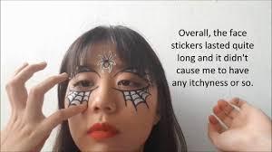halloween face stickers daiso halloween haul 2017 youtube