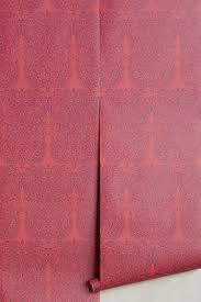 red wallpaper anthropologie