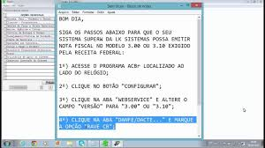 layout xml nfe 3 1 configurar layout acbr youtube