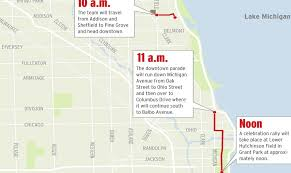 cubs parade map chicago cubs victory parade route live