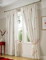 Linen Voile Curtain Fabric Butterfly Lined Voile Curtains In Red Free Uk Delivery Terrys
