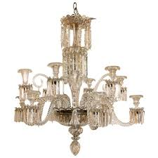 Bacarat Chandelier 12 Arm Baccarat Chandelier With Bells And Scrolls For Sale