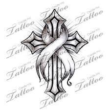 marketplace tattoo cancer ribbon cross 16220 createmytattoo com