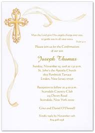 confirmation invitation cross with gold ribbon confirmation invitations storkie