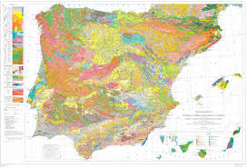 The Map Of Spain by Geological Map Of The Iberian Peninsula The Balearic Islands And