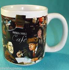 barnes and noble cafe famous authors coffee mug cup ad 3474971
