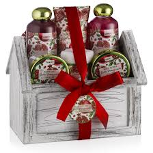 bath gift basket pomegranate spa bath set lovery gifts