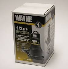 High Suction Lift Water Pump Wayne Vip50 1 2 Hp Thermoplastic Portable Electric Water Removal