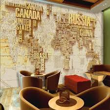 aliexpress com buy 3d custom gold world map wallpaper murals for