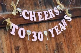 30 geburtstag banner für sie cheers bis 30 jahre rosa und