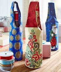 Pattern For Wine Bottle Holder   holiday wine bottle gift bags to sew wine bottle gift sewing