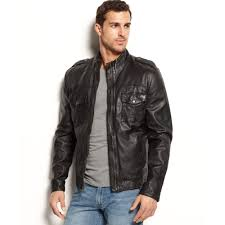 leather motorcycle jacket brands lucky brand lucky brands jeans scrambler moto jacket in black for