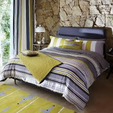 Yellow And Grey Bed Set Awesome Lace Stripe Bed Linen Luxury Grey Striped Bedding Scion At