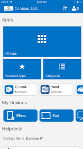 colors home page ui updates for intune end user apps microsoft docs