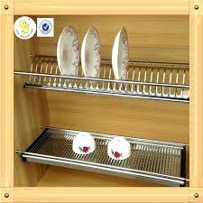 Kitchen Dish Rack Ideas Cabinet Dish Drainer Build It Yourself Plate Rack Plans Via
