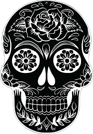 wallpapers archives sugar crafts sugar skull clipart creepy pencil and in color sugar skull