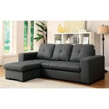 dayna cm6292 gray sectional sofa with pull out bed grey